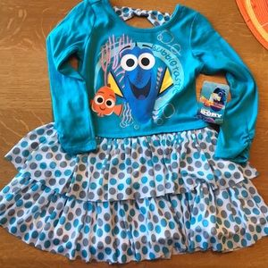 Finding Dory Disney Dress NWT